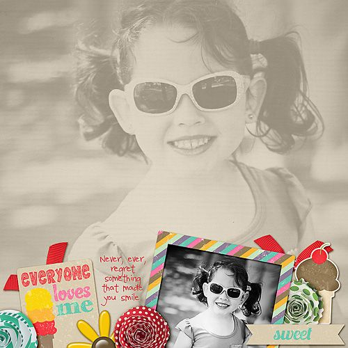 Layout by Kimberly M. Supplies: Vanilla Ice Cream Baby by Amy Stoffel.