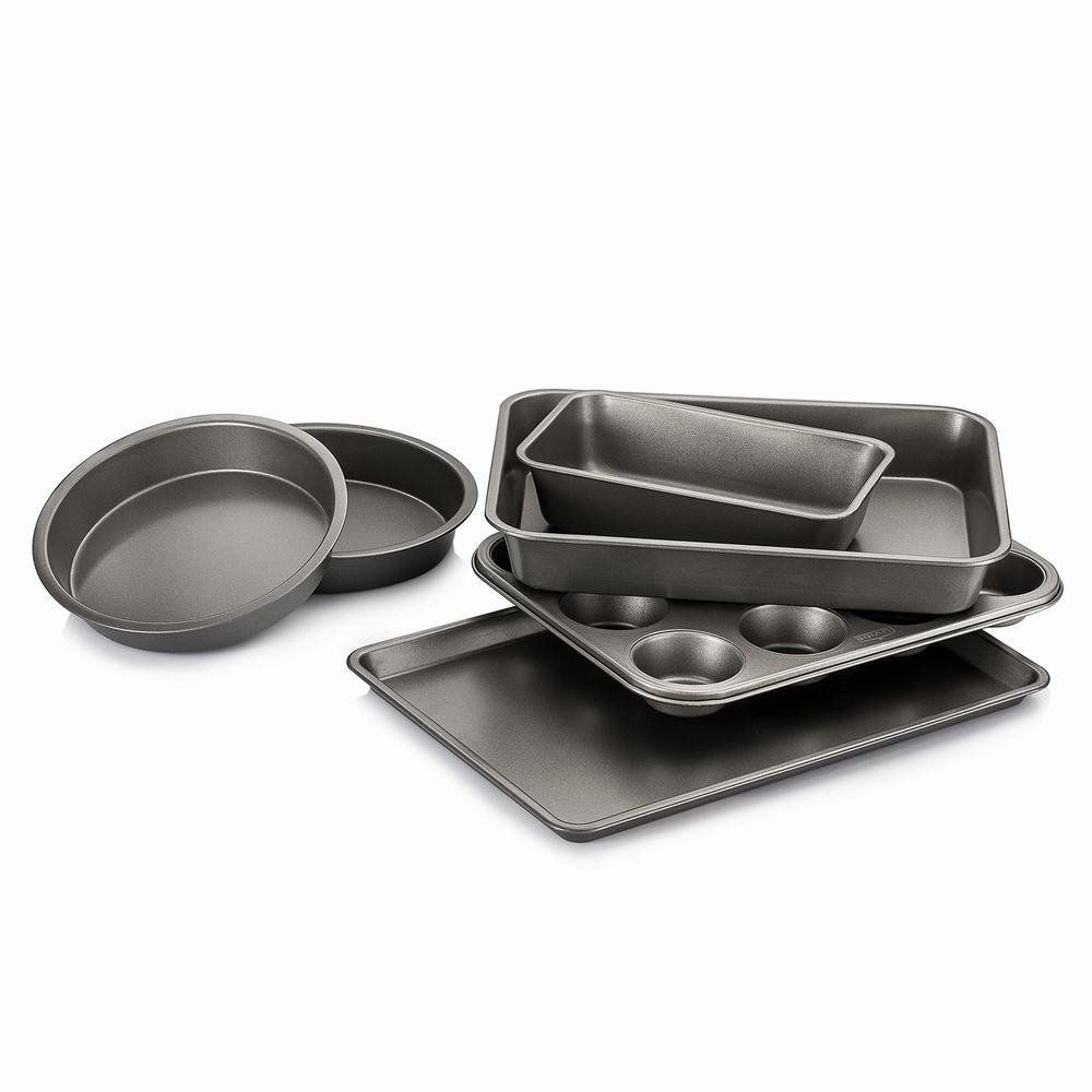 Luvide Nonstick Steel Bakeware Set 6 Pieces Grey Color Thick