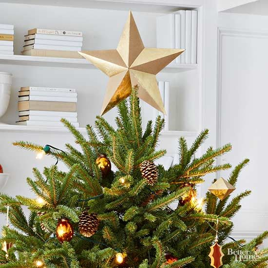 Crafty Christmas Tree Topper Ideas Tree toppers, Simple christmas