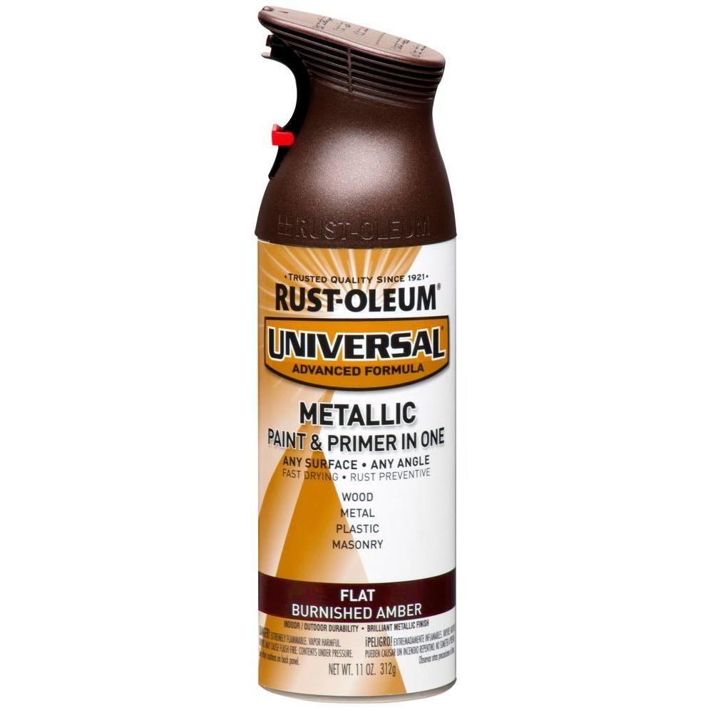 Rust Oleum Universal 11 Oz All Surface Flat Metallic