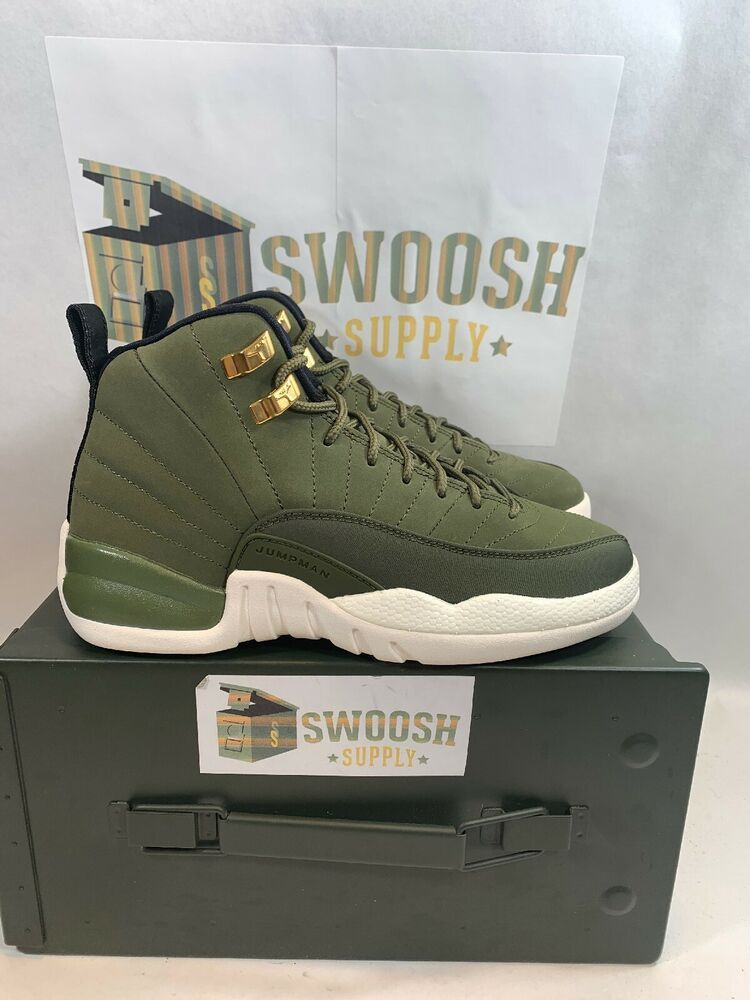 4a8c3d97fb3561 Nike Air Jordan 12 Retro Chris Paul Class Of 2003 Olive Green Sz 4Y 153265  301  Nike  Athletic