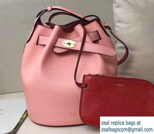 368b7421be Mulberry Small Classic Grain Abbey Drawstring Bucket Bag Pink Red 2017