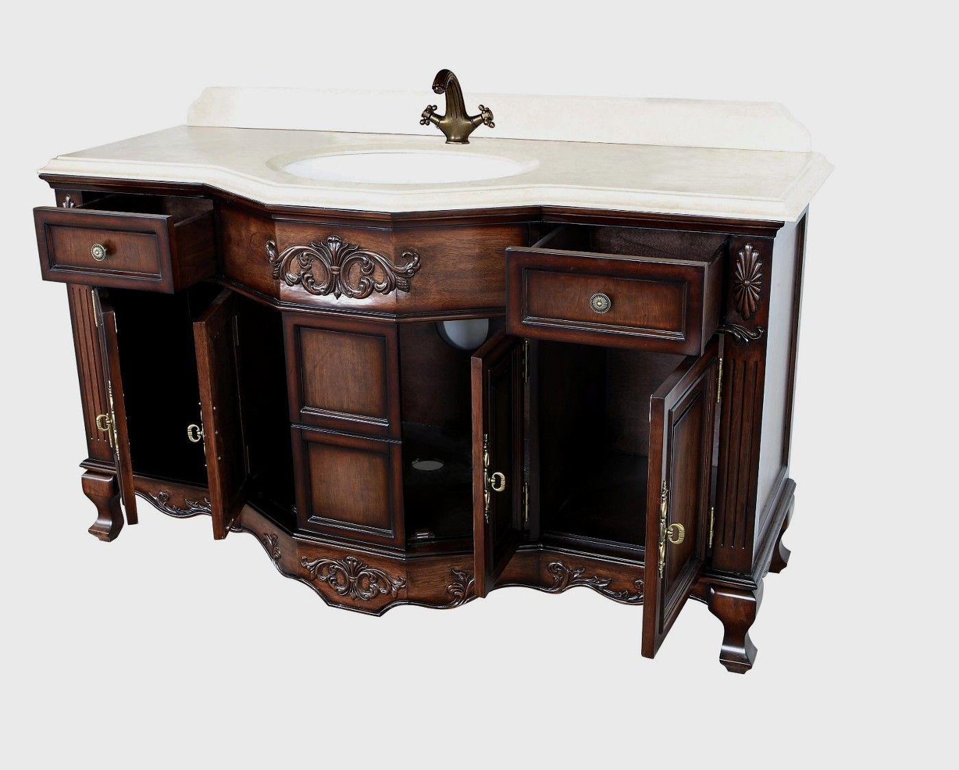 Montage Antique Style Bathroom Vanity Single Sink 60