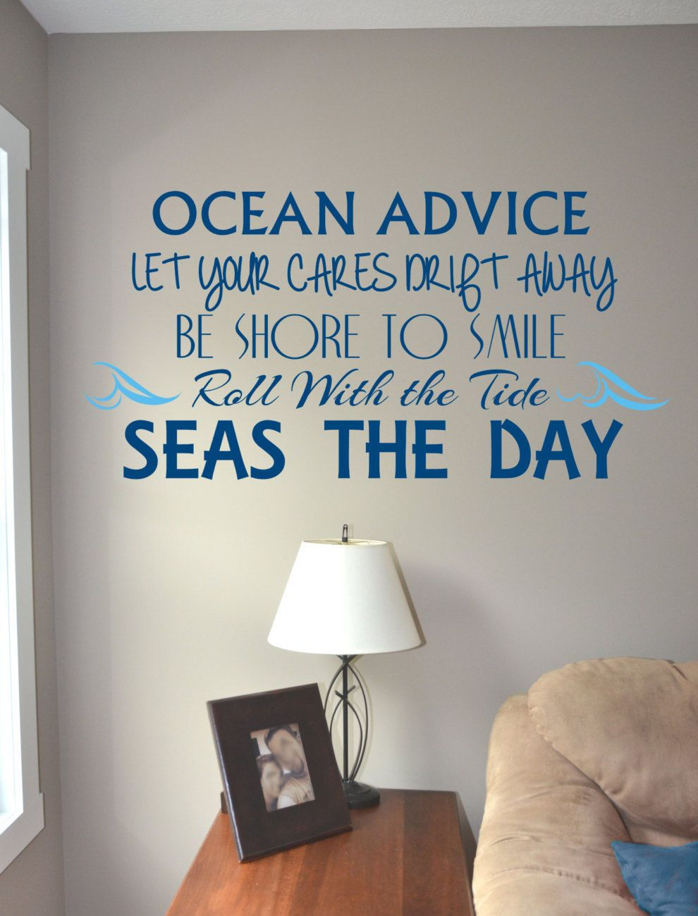 Ocean Vinyl Wall Decal Decor - nautical decor - Beach Quotes - Beach ...