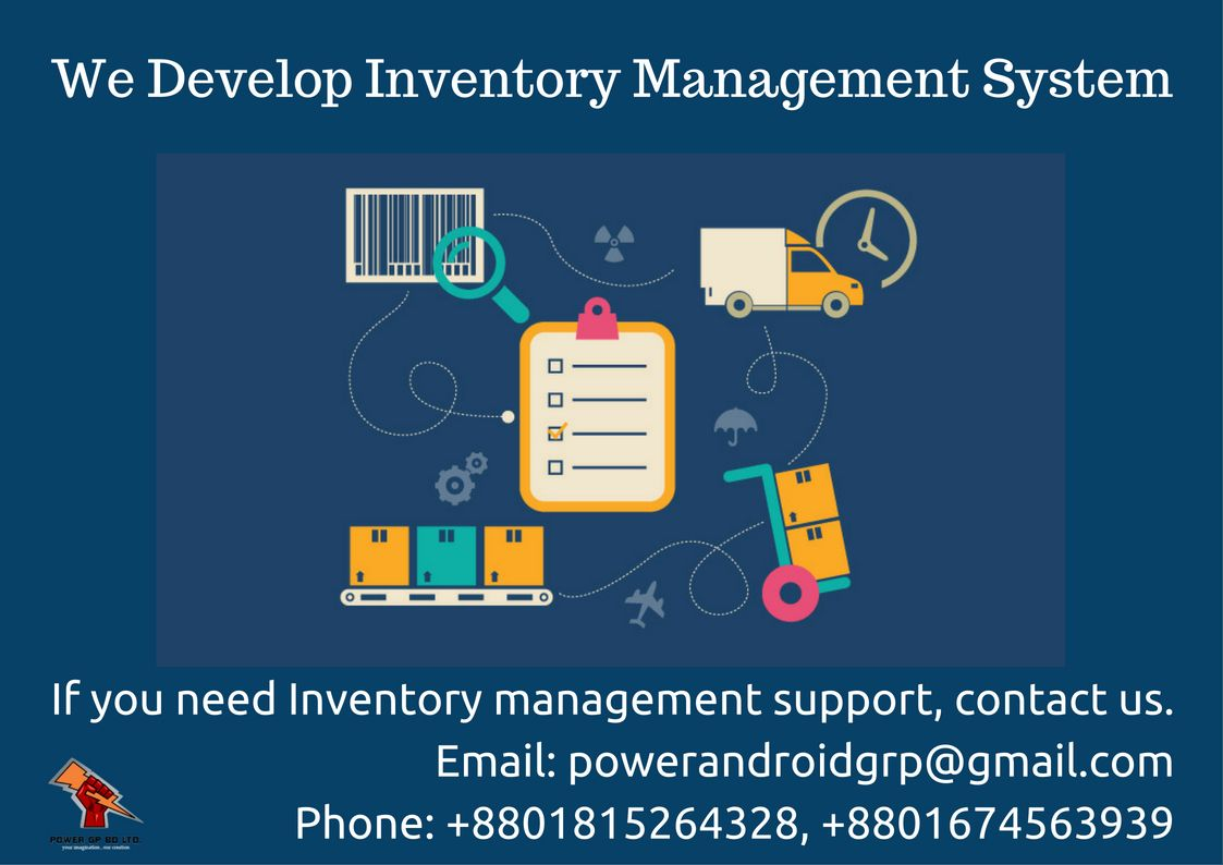 We develop Inventory Management System  If you need one