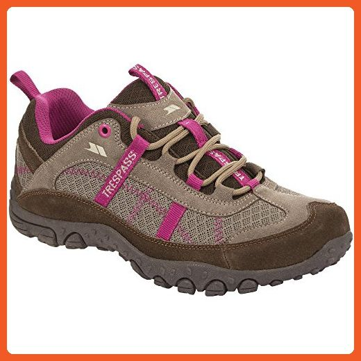 03837bb42dea7 Trespass Womens/Ladies Fell Lightweight Walking Shoes (10 US) (Taupe ...