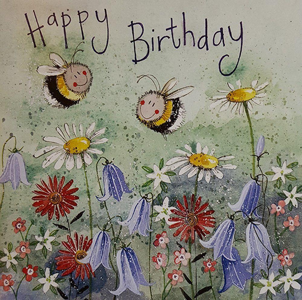 Bee meadow birthday card by alex clark for Alex co amazon