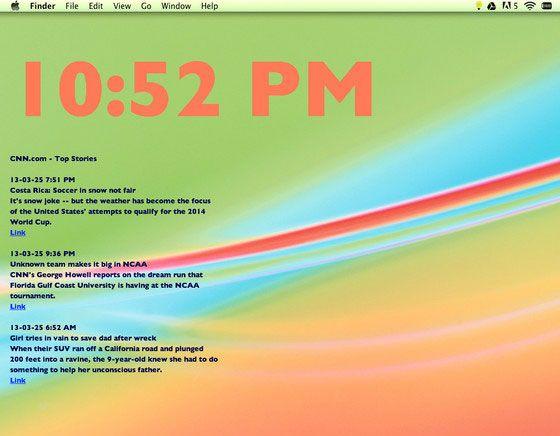 Smart Wall Mac Osx Meteo Rss Horloge Etc En Fond D Ecran