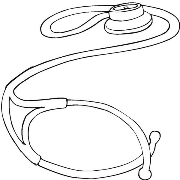 Stethoscope Medical Tool Coloring Page Coloring Sky Coloring Pages Moms Crafts Color