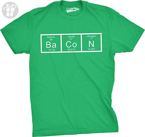 Mens the chemistry of bacon t shirt funny brunch periodic table mens the chemistry of bacon t shirt funny brunch periodic table science tee green urtaz Images