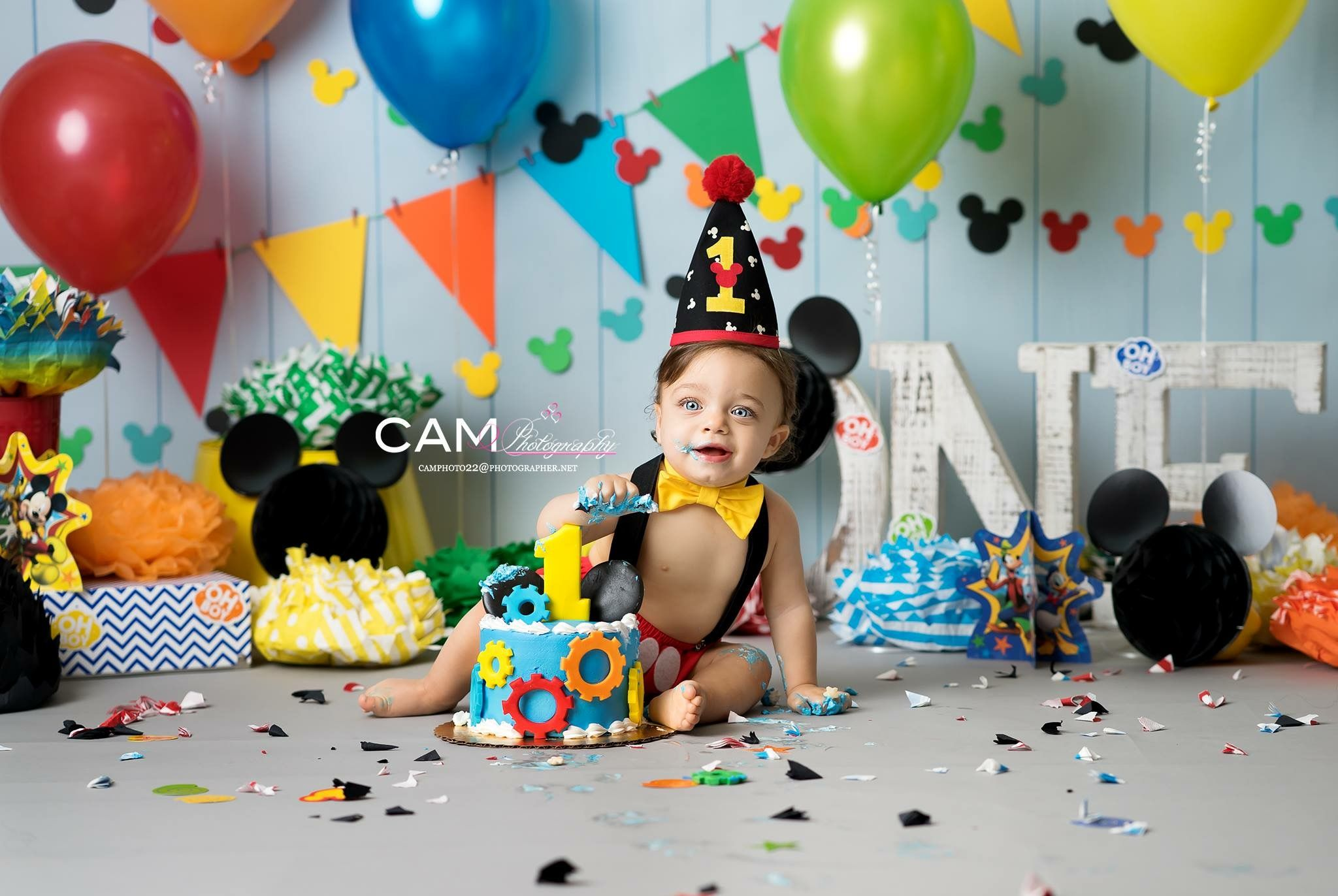 Mickey Mouse Mouseketeer Clubhouse First Birthday Photo Shoot First Birthday Cak Mickey First Birthday Mickey Mouse First Birthday 1st Birthday Pictures
