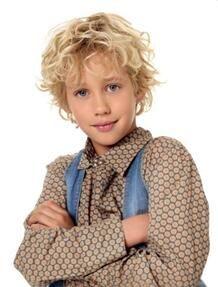 fashion blonde wavy short kids wigs  kids hairstyles boy