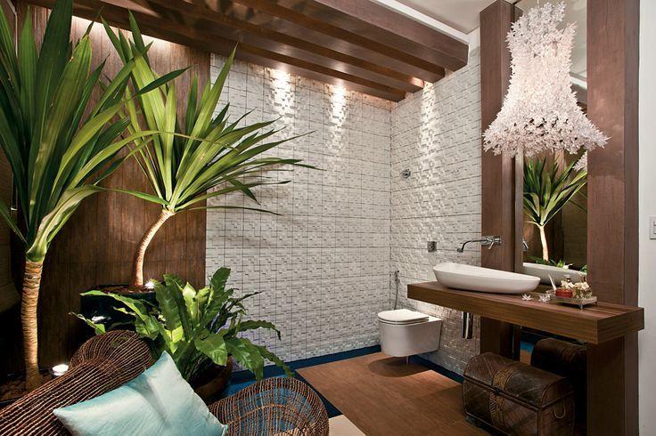 Salle de bain tropicale home bathroom salle de bain tropicale int rieur salle de bain et - Salle de bain tropicale ...