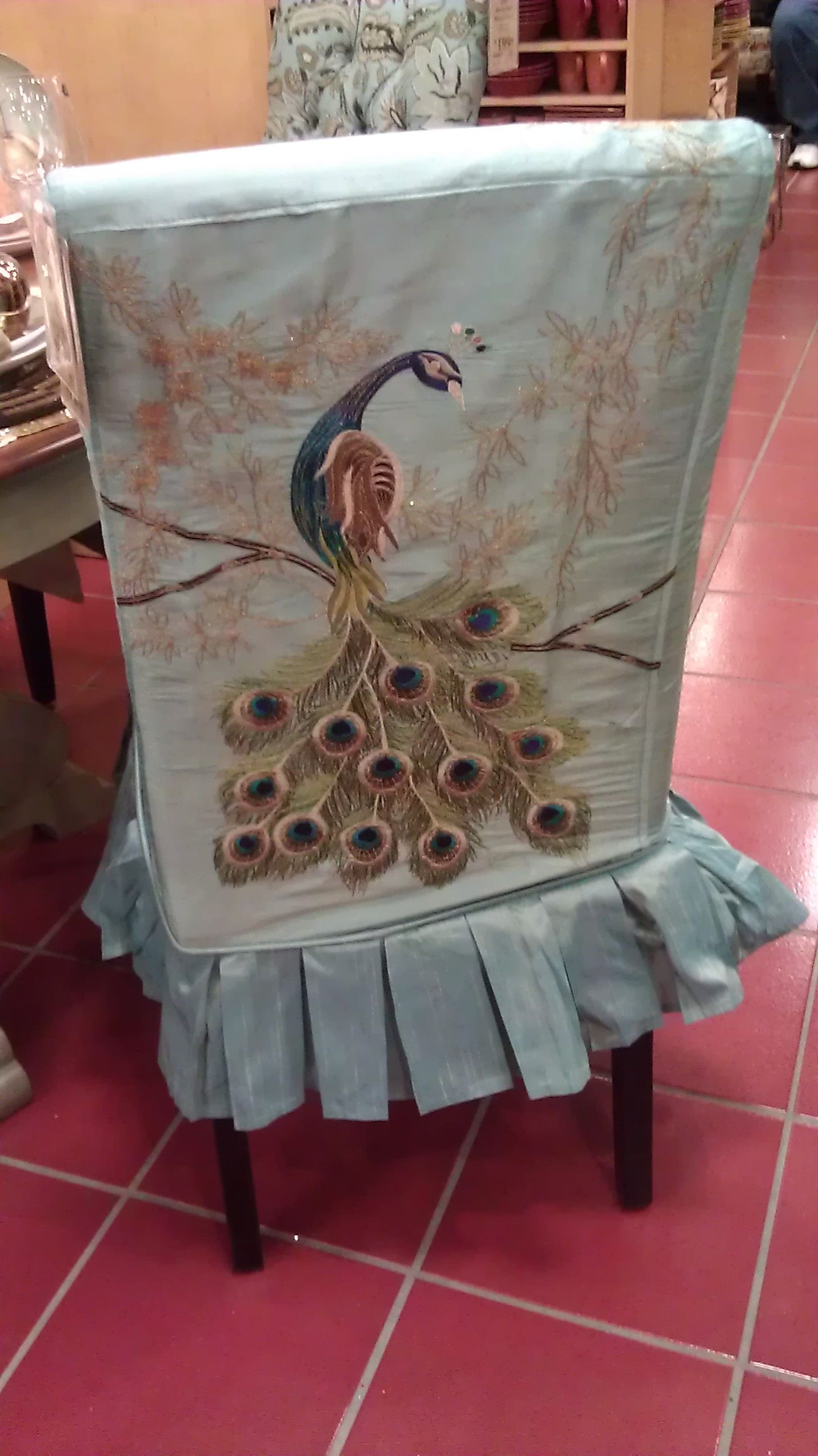 Pier One Peacock Dining Room Chair Cover