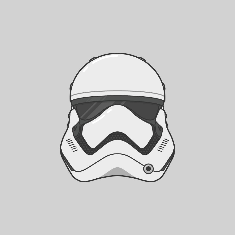 Star Wars Vector Illustrations Stormtrooper Helmet Star Wars Stormtrooper