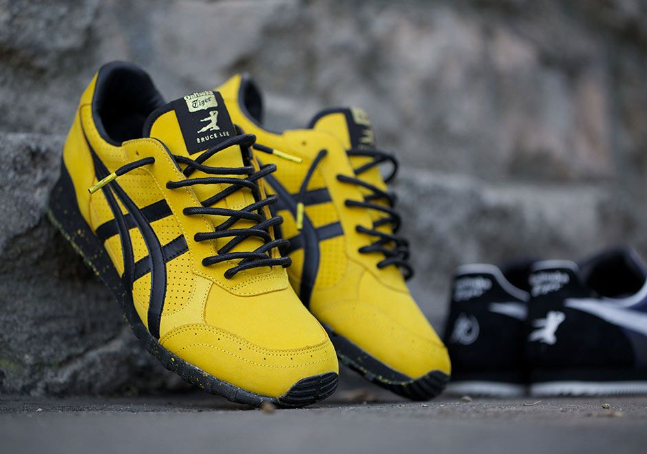 "66c56e480d33 You can t approach a ""Bruce Lee"" concept without implementing the iconic  yellow black colorway. BAIT and Onitsuka Tiger reveal the second leg of  their ..."