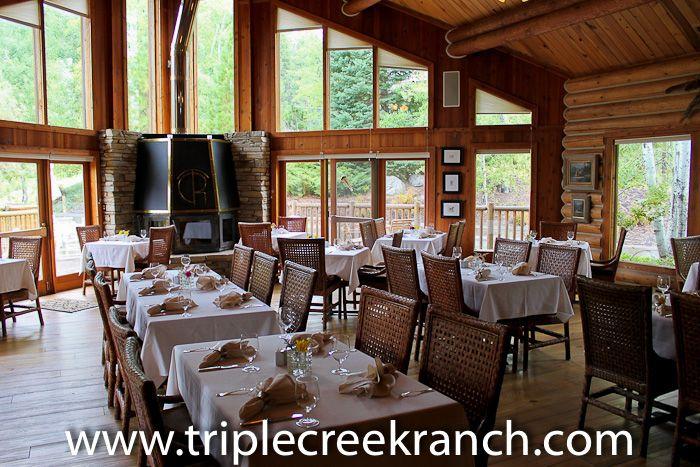 Triple Creek Ranch Dining Room.