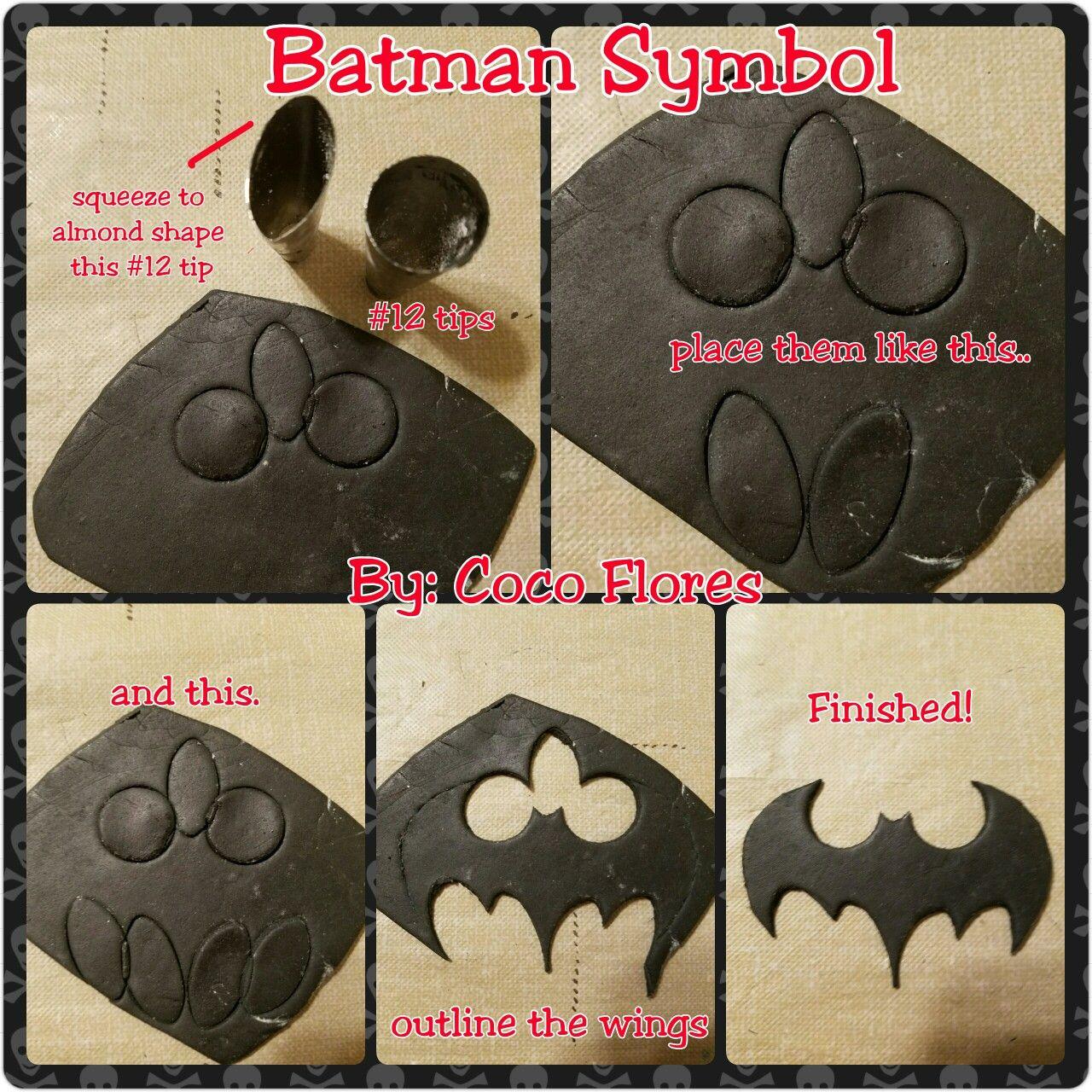 Batman Logo Template For Cake