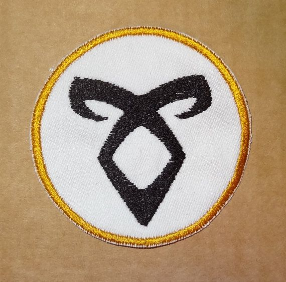 Mortal Instruments  Angelic Power rune patch badge  3 inch round by lynellen, $4.00