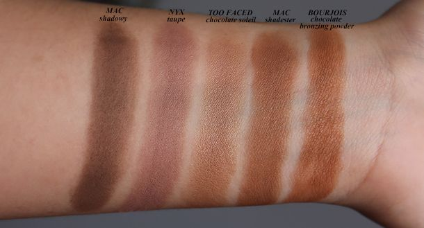 Nyx Blush In Taupe Review And Comparisons Bronzer Swatches Nyx