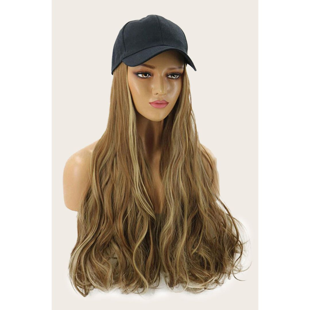 Elsie Horbek Brown Gradient Wigs With Hat Hats Gloves Blush Mark In 2021 Wavy Curly Hair Wigs Synthetic Wigs