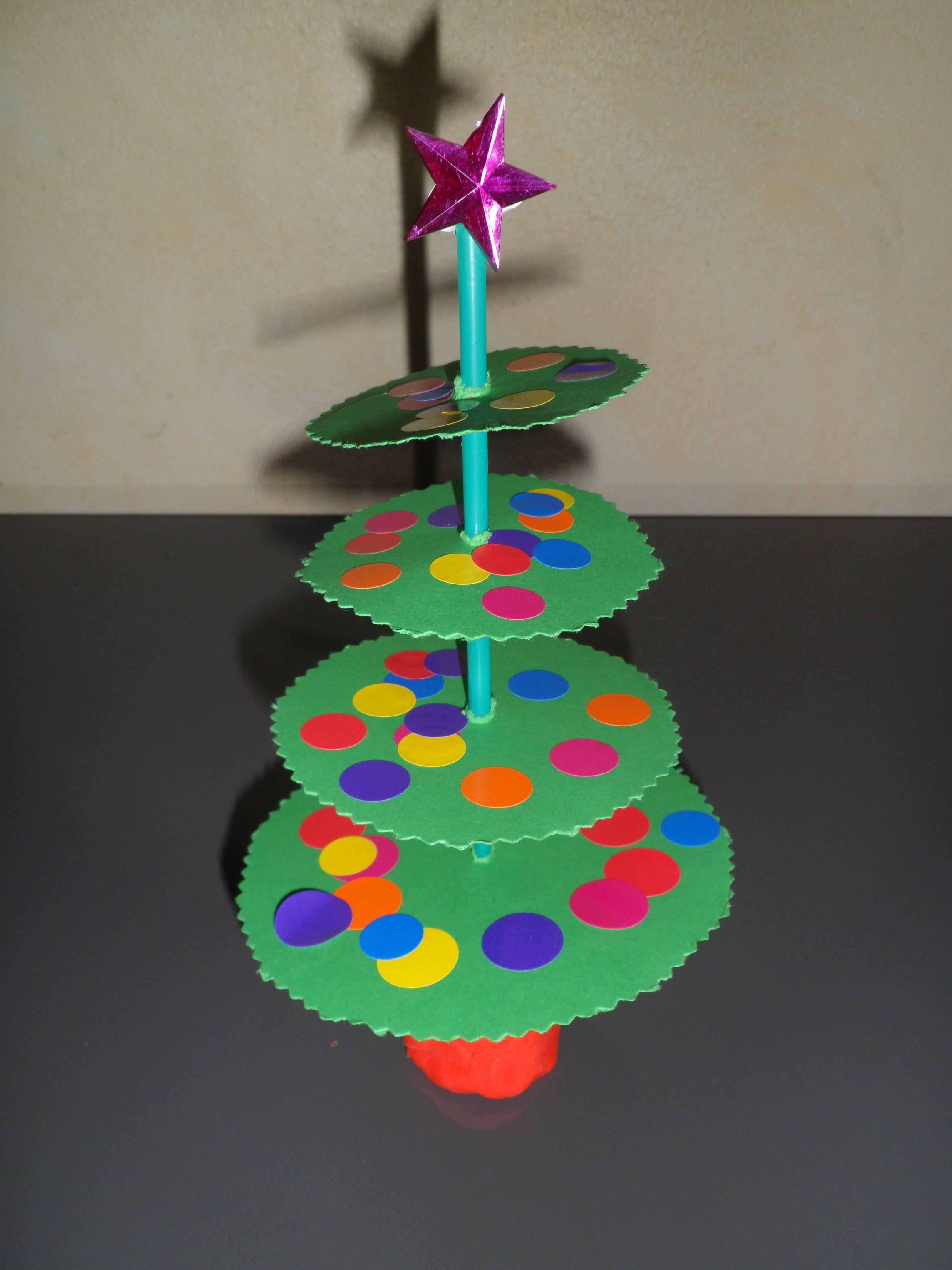 Fabriquer Sapin De Noel En Papier sapin fait avec papier et paille | bricolage de noel maternelle