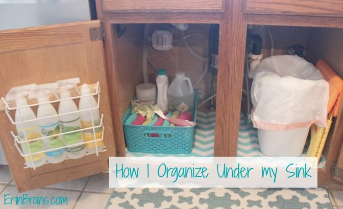 How I organize under the kitchen sink | Erin Branscom