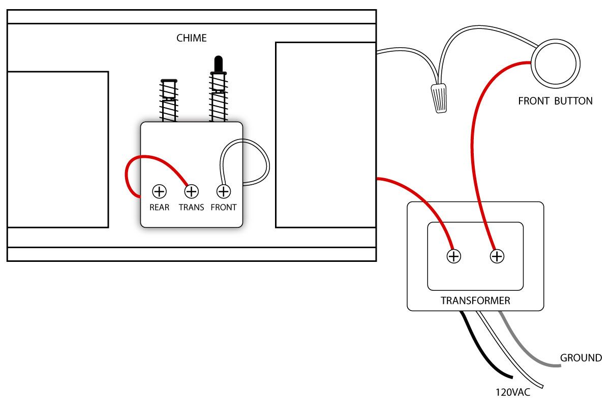 doorbell wiring diagrams in 2019 new house ideas todd homehow to wire a doorbell with one [ 1200 x 800 Pixel ]