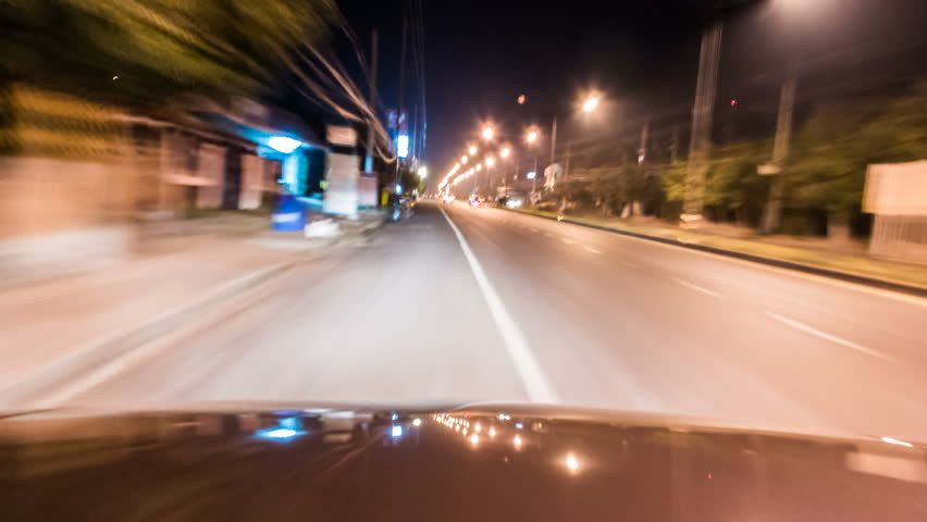Time Lapse of Night Driving Stock Footage Video (100
