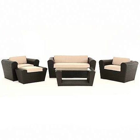 Wentworth Five Piece All Weather Resin Wicker Patio Furniture Set By