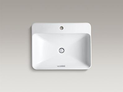 KOHLER | K-2660-1-0 | Vox® Rectangle Vessel above-counter bathroom ...