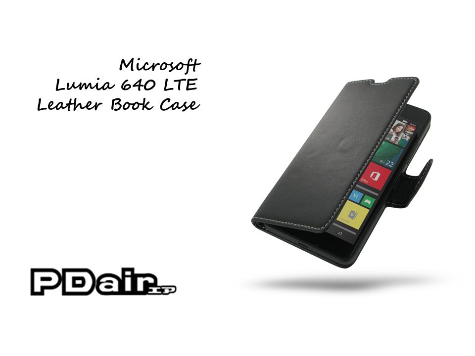 PDair Microsoft Lumia 640 LTE Leather Book Case