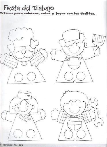 titeres de papel para colorear - Buscar con Google | Títeres de mano ...