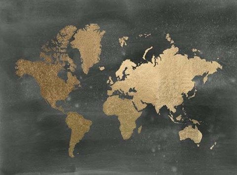Framed large gold foil world map on black metallic foil print framed large gold foil world map on black metallic foil print gumiabroncs Choice Image