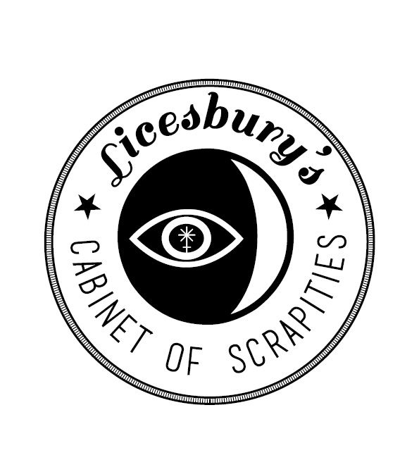 My logo - Licesbury's Cabinet of Scrapities