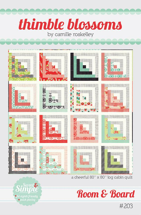 Room & Board by Camille Roskelley for Thimble Blossoms, measures 80 ...
