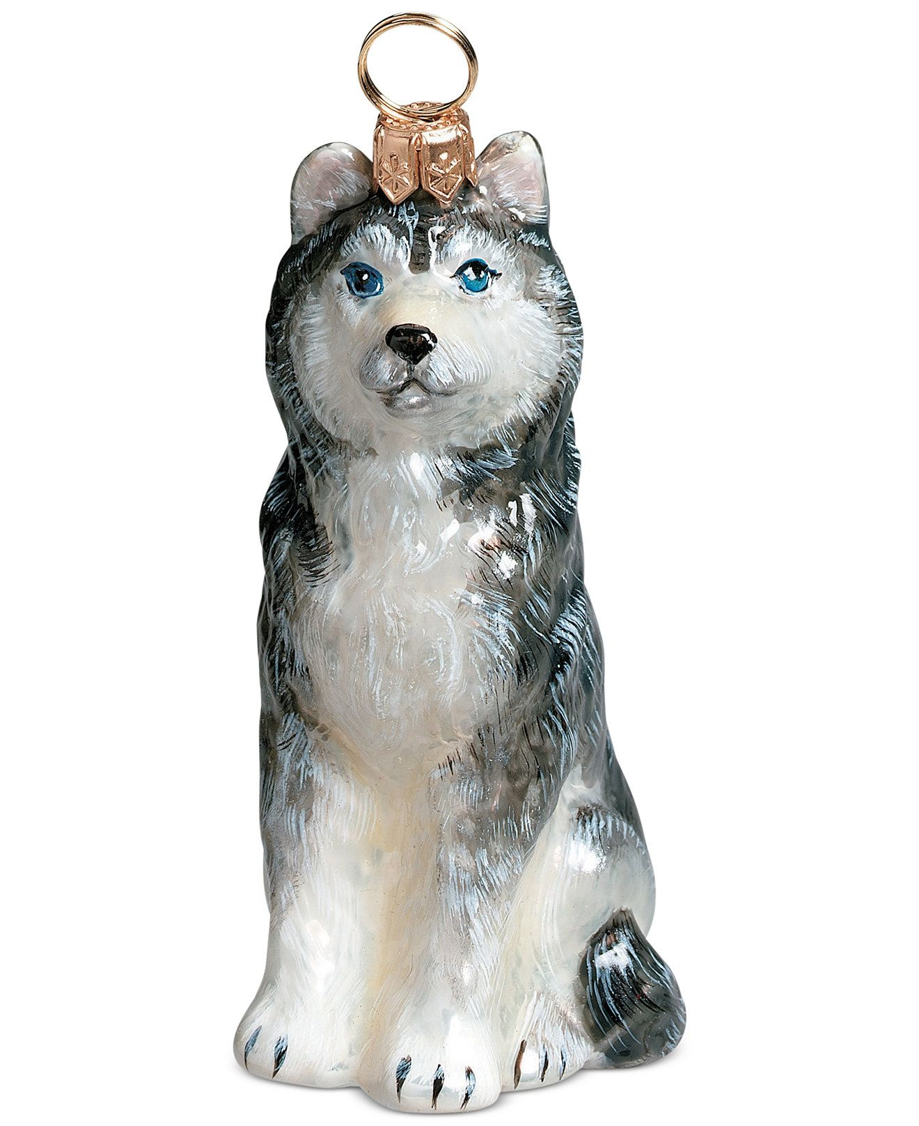 Joy to the World Siberian Husky Pet Charity Ornament - Holiday Lane ...
