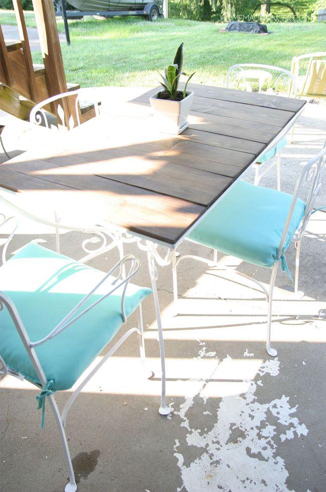 Vintage Patio Table Makeover | Vintage patio, Patio table and Patios