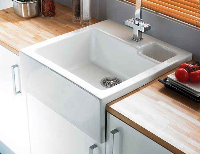 Image 3 Of Astracast Canterbury 1 5 Bowl Ceramic Gloss White Sit In Sink With Images White Ceramic Kitchen Sink Ceramic Kitchen Sinks Kitchen Sink Taps