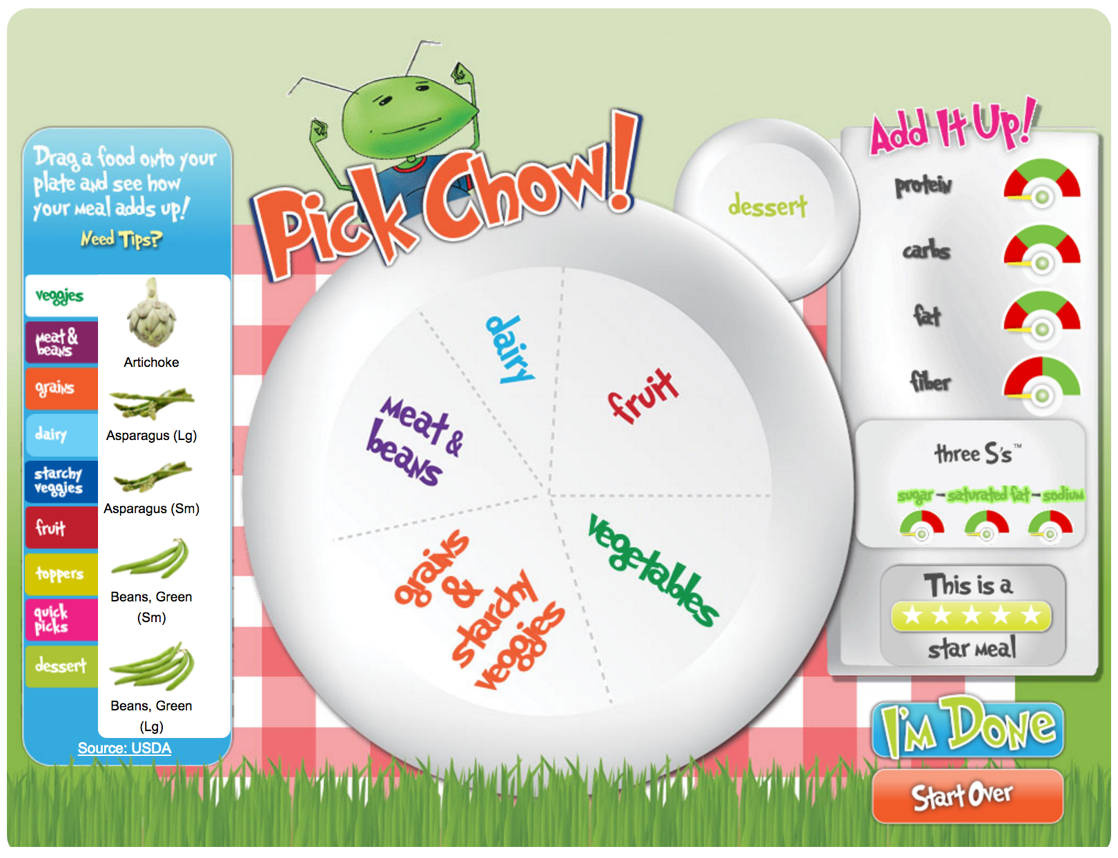 Fit Kids Pick Chow Game