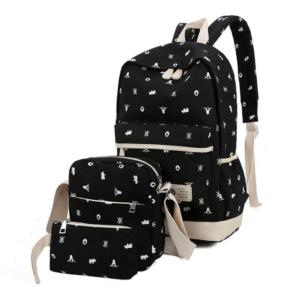 2b2bc508711d Fashion Womens Girl Backpack School Shoulder Bags Rucksack Canvas Travel  Handbag