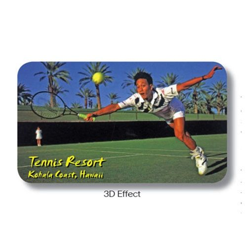 Lenticular business card with custom tennis resort player dives to lenticular business card with custom tennis resort player dives to hit ball animation from lantor ltd personalize your promotional project with your colourmoves