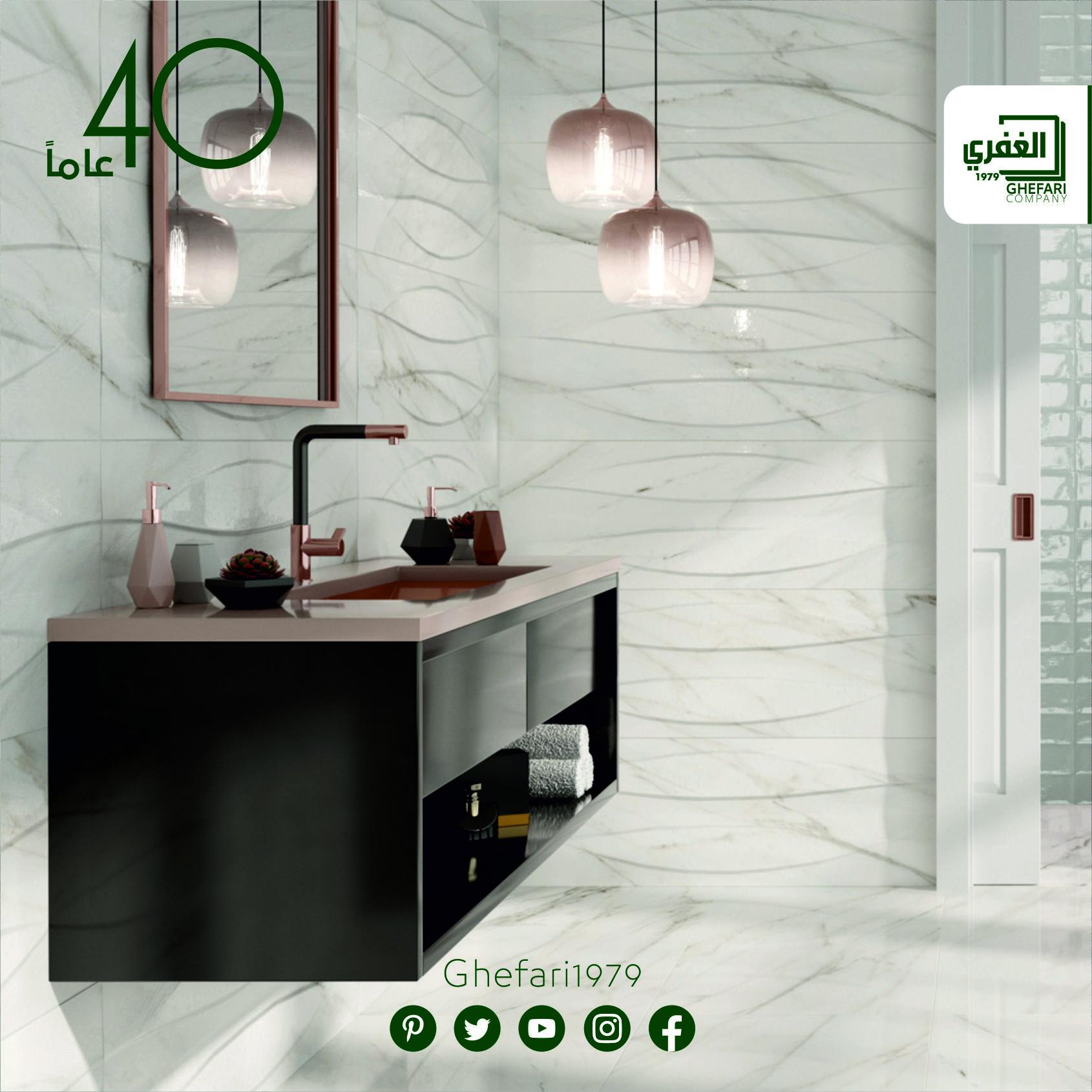 بورسيلان اسباني للمزيد زورونا على موقع الشركة Www Ghefari Com الرقم المجاني 1700 25 26 27 المعرض الرئيسي Round Mirror Bathroom Home Decor Bathroom Mirror