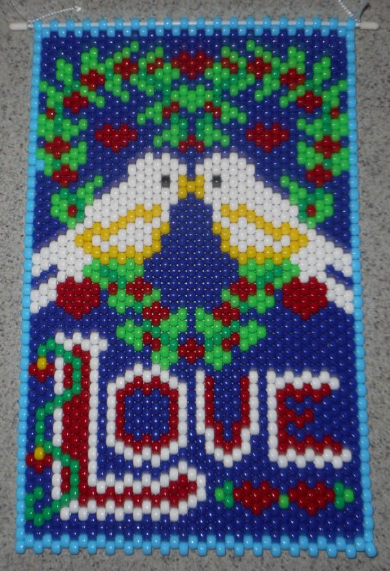 LOVEBIRDS BEADED BANNER PDF PATTERN ONLY