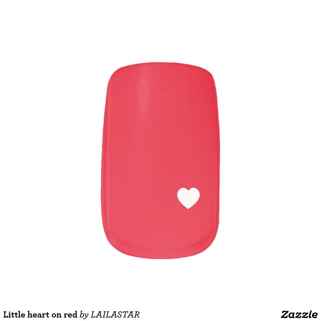 Envolturas Para Uñas Little heart on red | Pegatinas, Manicuras y ...