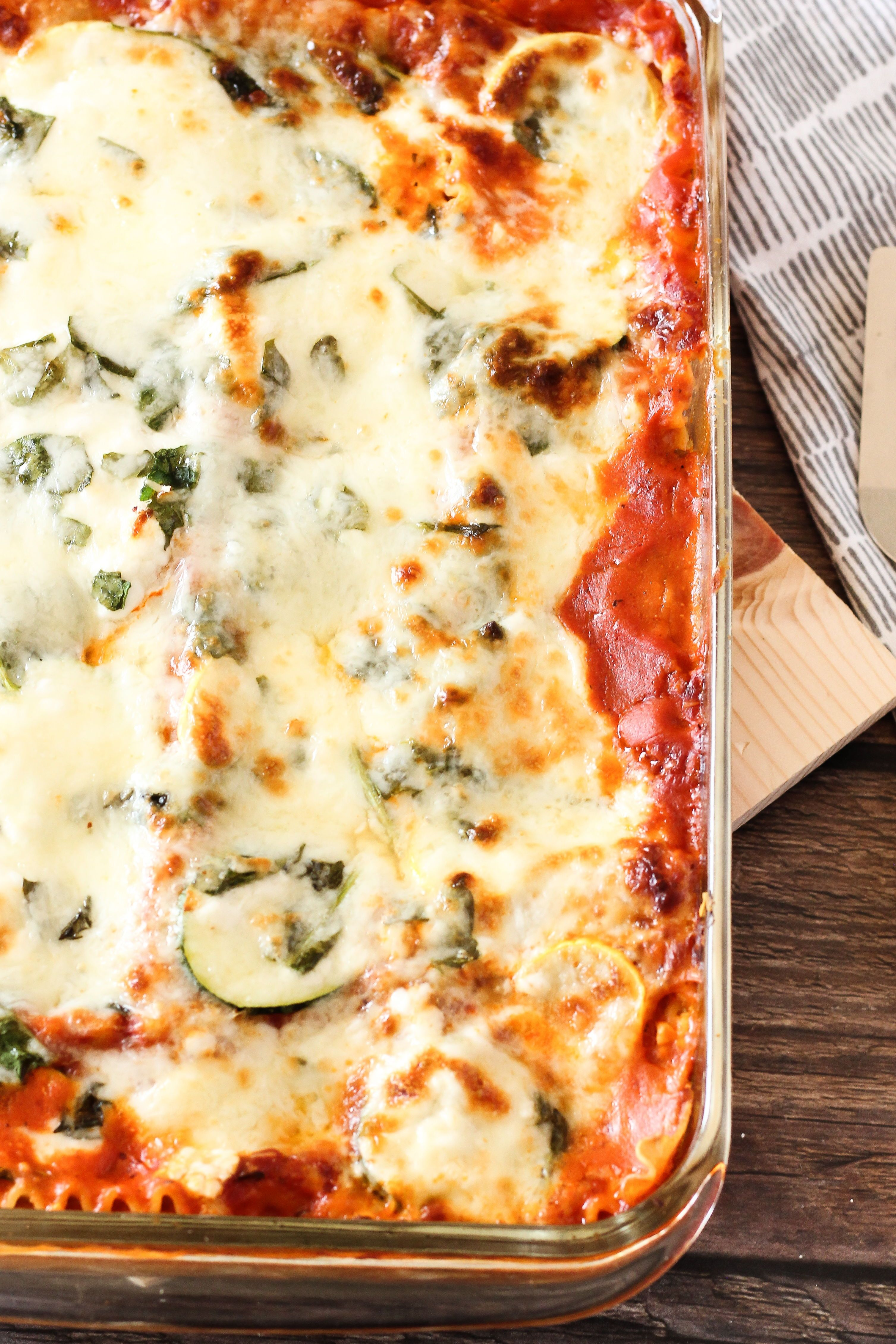 Easy Vegetable Lasagna with Zucchini and Spinach - Feeding Your Fam