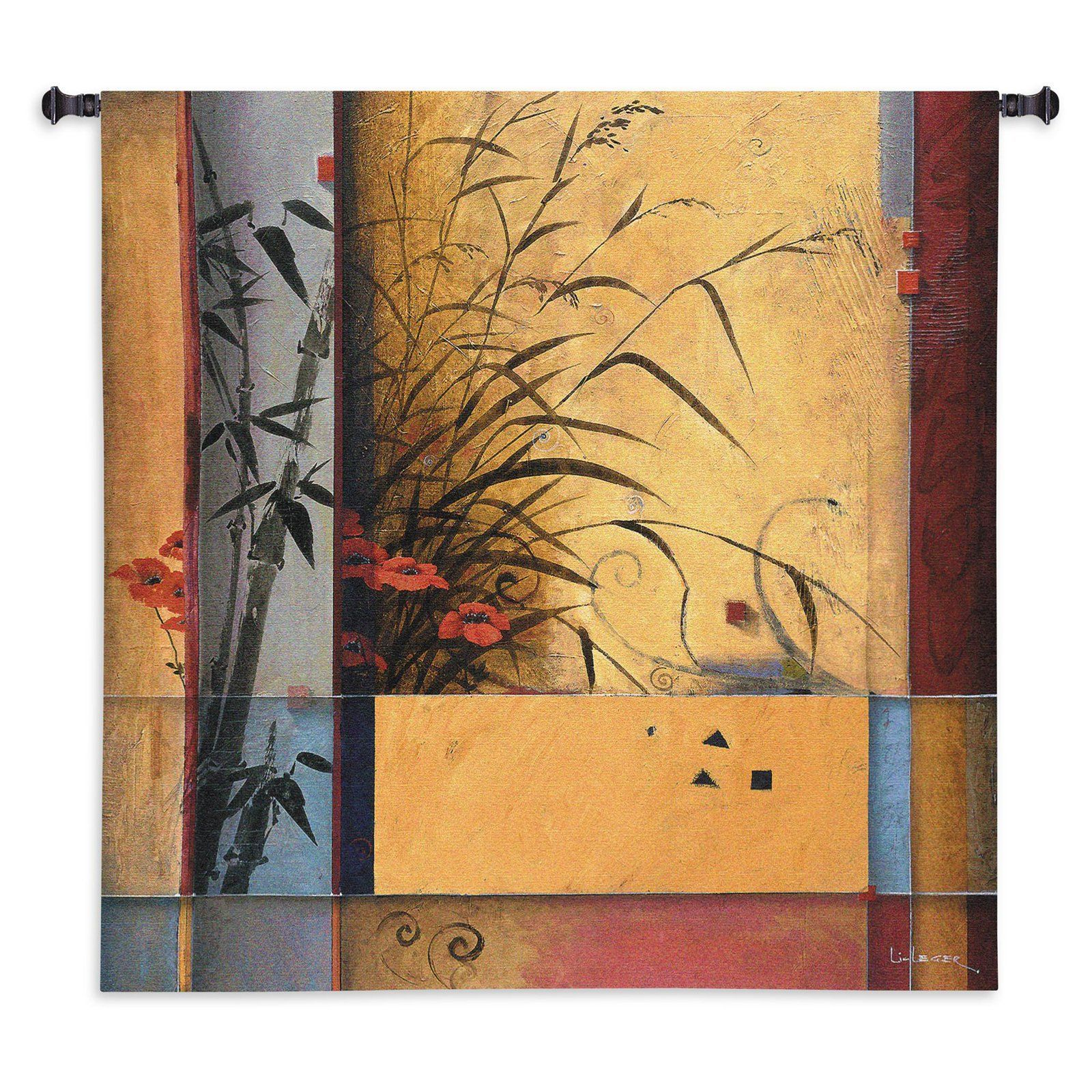 Fine Art Tapestries Bamboo Division Wall Tapestry - 3019-WH ...