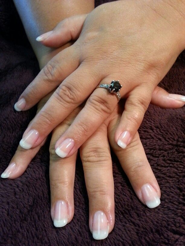 This Bride Is Wearing Shellac Pink And White Over Backscratchers Fibergl Artificial Nails How Beautiful