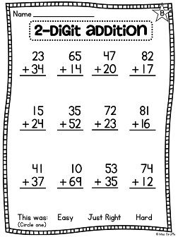 First Grade Math Unit 13 For 2 Digit Addition And Subtraction First Grade Math Worksheets First Grade Math 1st Grade Worksheets