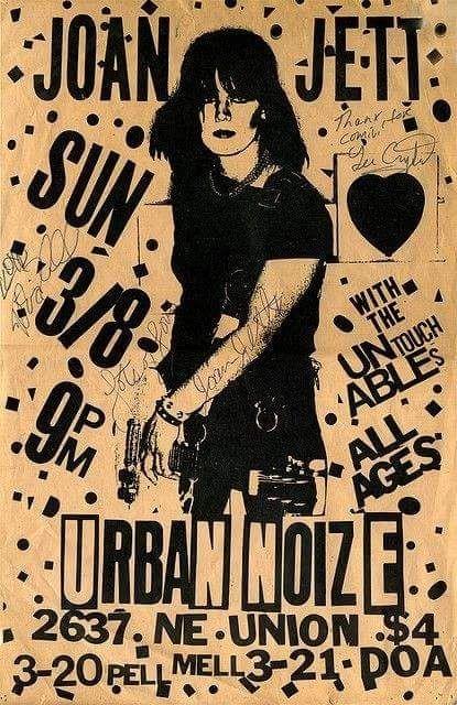 Custom Silk Poster Wall Decor Joan Jett
